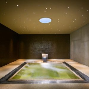 Bathe in the Hydro-Massage Pool under our star constellation...